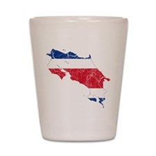 Costa Rica Flag And Map Shot Glass