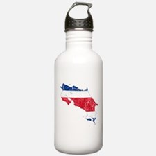 Costa Rica Flag And Map Water Bottle