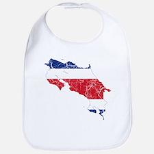 Costa Rica Flag And Map Bib