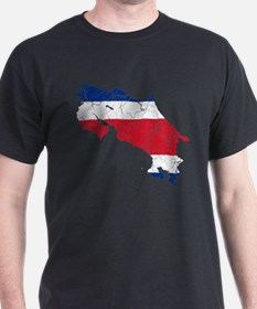 Costa Rica Flag And Map T-Shirt