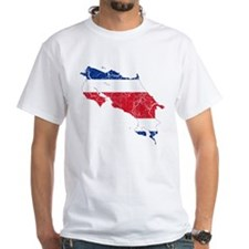 Costa Rica Flag And Map Shirt