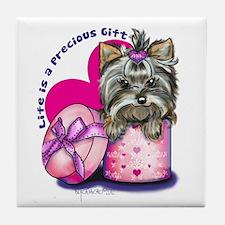 Life is a Precious Gift Tile Coaster