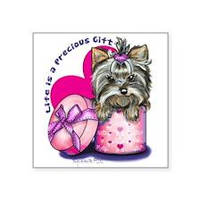 "Life is a Precious Gift Square Sticker 3"" x 3"""