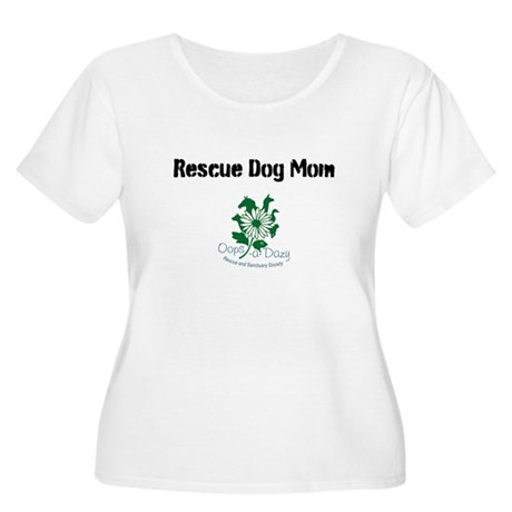 Rescue Dog Mom Women's Plus Size Scoop Neck T-Shir