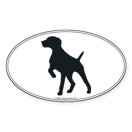 GS Pointer Silhouette Oval Sticker
