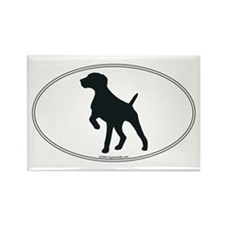 GS Pointer Silhouette Rectangle Magnet