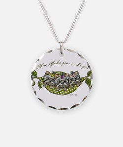Three yorkie peas in the pod Necklace