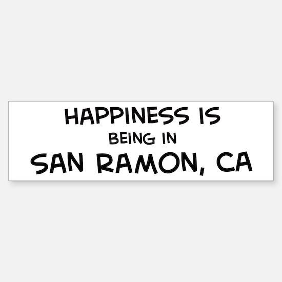 San Ramon - Happiness Bumper Bumper Bumper Sticker