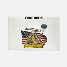 Fort Irwin with Text Rectangle Magnet
