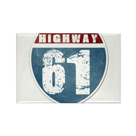 Highway 61 Rectangle Magnet