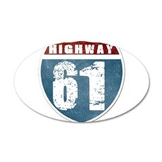 Highway 61 35x21 Oval Wall Decal