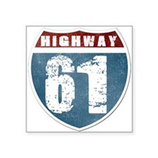 "Highway 61 Square Sticker 3"" x 3"""