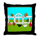 Chicken pillow Throw Pillows