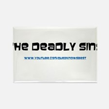 The Deadly Sins Main Channel Rectangle Magnet