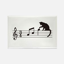 Cat Toying with Note v.1 Rectangle Magnet