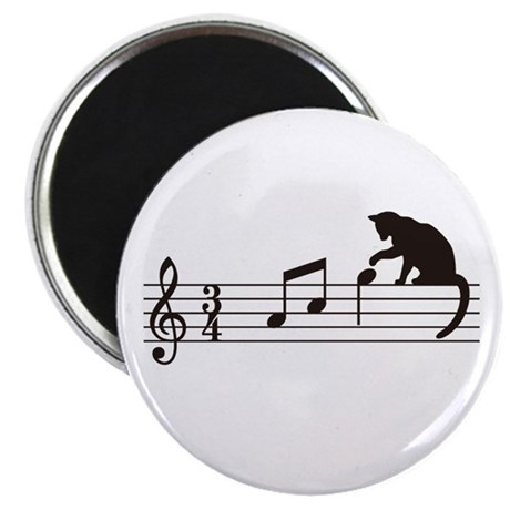 """Cat Toying with Note v.1 2.25"""" Magnet (100 pack)"""