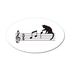 Cat Toying with Note v.1 Wall Decal