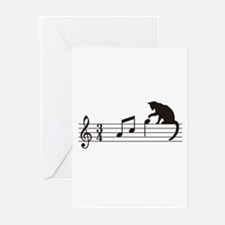 Cat Toying with Note v.1 Greeting Cards (Pk of 20)