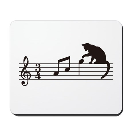 Cat Toying with Note v.1 Mousepad