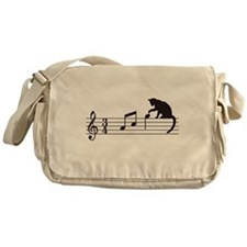 Cat Toying with Note v.1 Messenger Bag