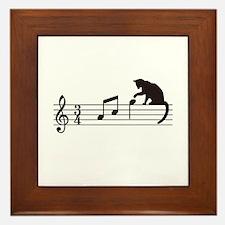 Cat Toying with Note v.1 Framed Tile