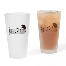 Cat Toying with Note v.1 Drinking Glass