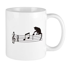 Cat Toying with Note v.1 Small Mugs