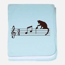 Cat Toying with Note v.1 baby blanket