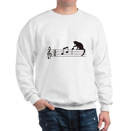 Cat Toying with Note v.1 Sweatshirt