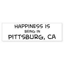 Pittsburg - Happiness Bumper Bumper Sticker