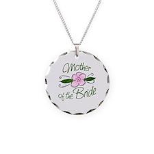 Pink Flower Mother of Bride Necklace