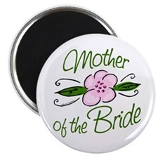 Pink Flower Mother of Bride Magnet