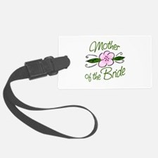 Pink Flower Mother of Bride Luggage Tag