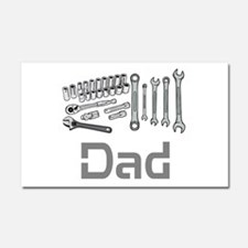 Dad, Tools, Wrenches. Car Magnet 20 x 12