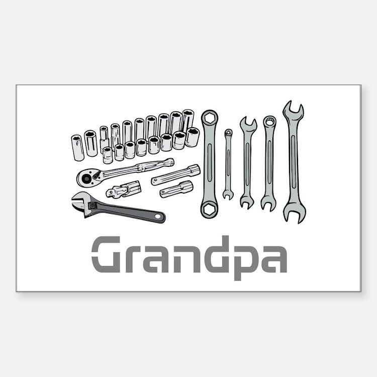 Grandpa, DIY Tools. Decal