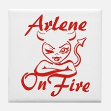 Arlene On Fire Tile Coaster