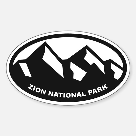 Zion National Park Sticker (Oval)