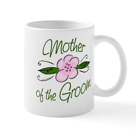 Pink Flower Mother of Groom Mug