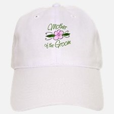 Pink Flower Mother of Groom Baseball Baseball Cap
