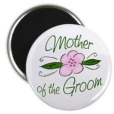 Pink Flower Mother of Groom Magnet