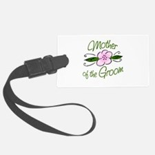 Pink Flower Mother of Groom Luggage Tag