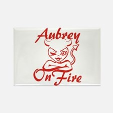 Aubrey On Fire Rectangle Magnet
