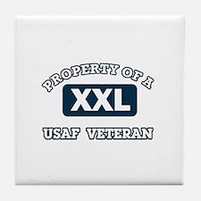 Property of USAF Veteran Tile Coaster