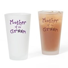 Purple Mother of the Groom Drinking Glass
