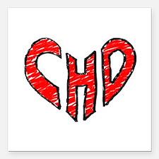 """chd 2012 heartwalk Square Car Magnet 3"""" x 3"""""""