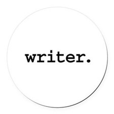 writer.jpg Round Car Magnet