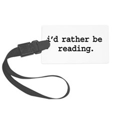 idratherbereadingblk.png Luggage Tag