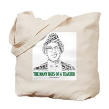 Male Teachers Hats Tote Bag