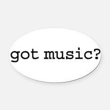 gotmusic.png Oval Car Magnet