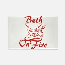 Beth On Fire Rectangle Magnet
